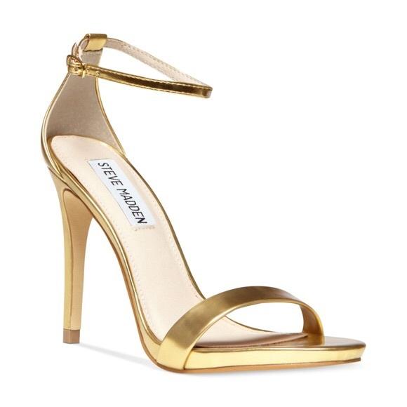 9198ce9a7c9 Steve Madden Stecy Sandal Sz 8.5 Gold Heels Formal.  M 5af335225521befc6586bdb4